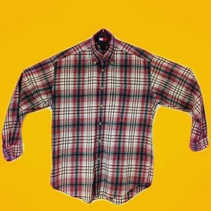 90's Vintage Tommy Hilfiger Casual Button Down